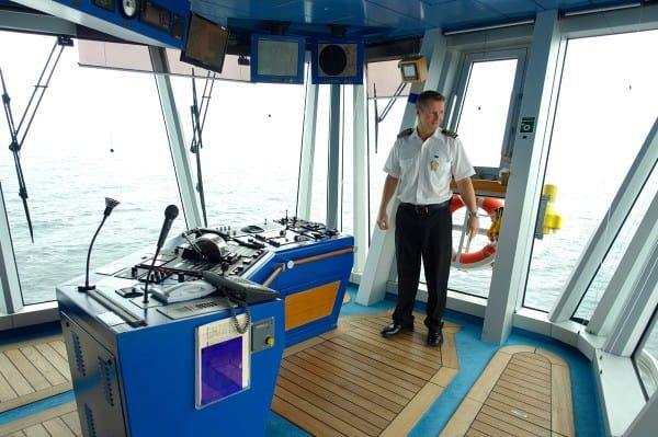 a visit to the Captain's bridge