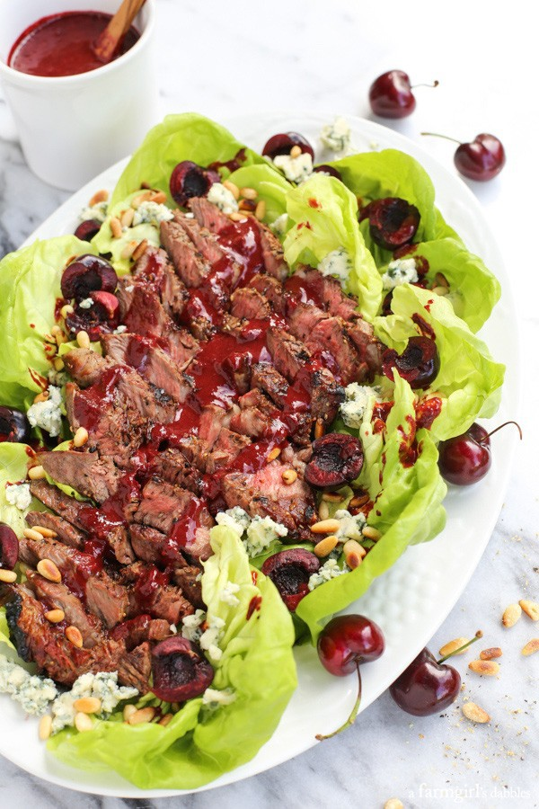 This Grilled Steak Salad with Cherry-Chipotle Balsamic Vinaigrette is ...