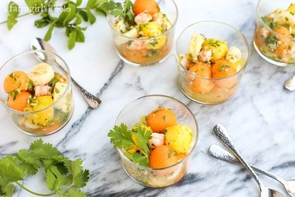 Tropical Shrimp Salad from afarmgirlsdabbles.com