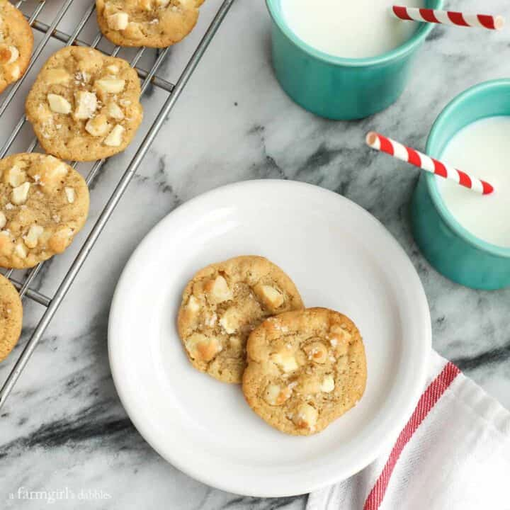White Chocolate Macadamia Nut Cookies with Sea Salt