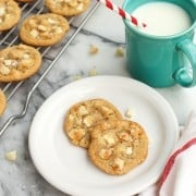 White Chocolate Macadamia Nut Cookies with Sea Salt