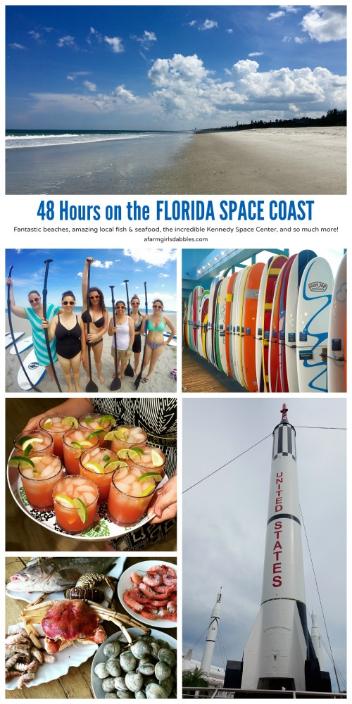 pinterest image of 48 Hours on the Florida Space Coast