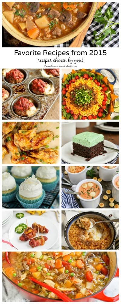 Favorite Recipes from 2015 chosen by the reader
