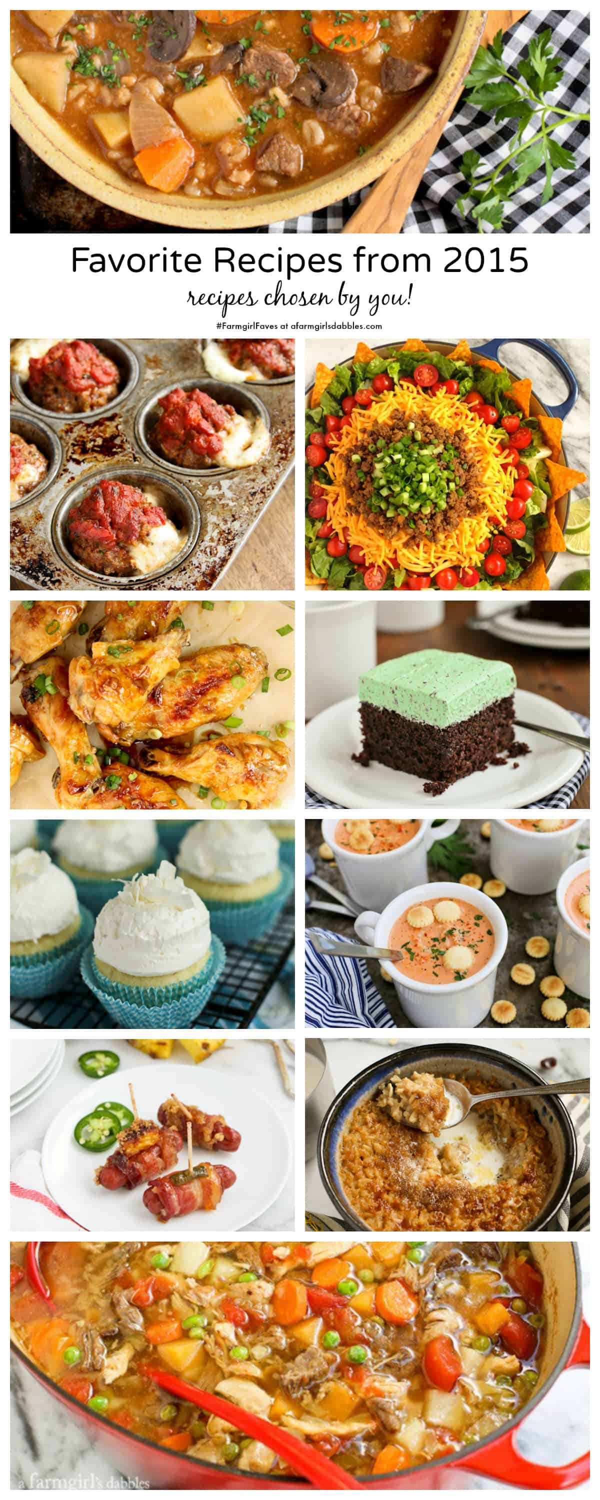 Favorite Recipes from 2015, reader favorites - from afarmgirlsdabbles.com