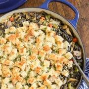 Chicken wild rice casserole with gruyere