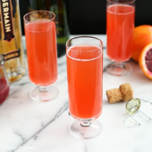 Blood Orange Mimosa with St. Germain