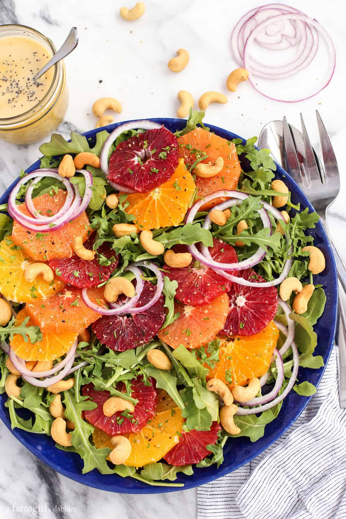 ... look at this Citrus Salad with Orange Poppy Seed Dressing, I feel joy
