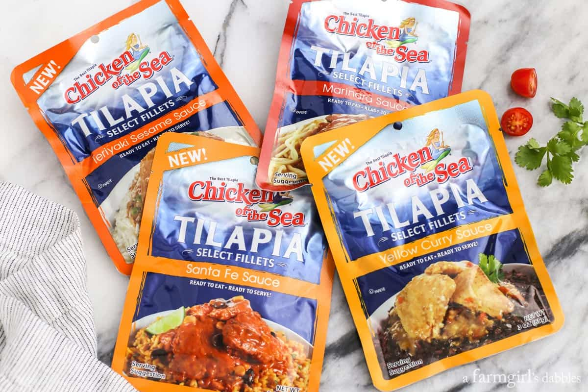 Tilapia pouches from Chicken of the Sea, from afarmgirlsdabbles.com