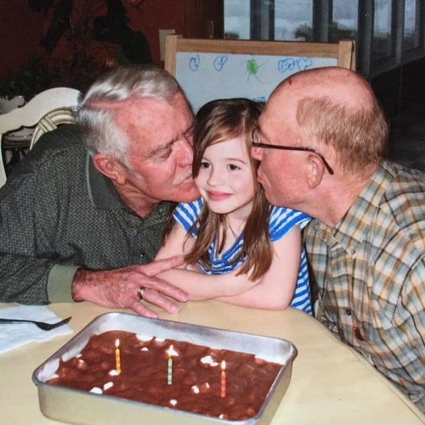 a girl and her grandpas