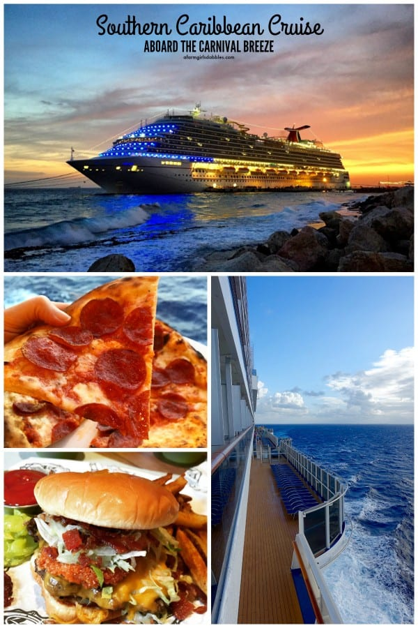 pinterest image of Southern Caribbean Cruise Aboard the Carnival Breeze