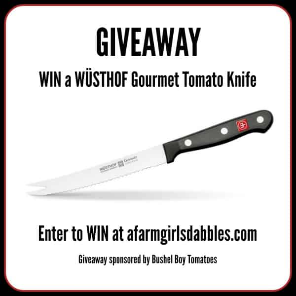 WÜSTHOF Gourmet Tomato Knife #GIVEAWAY at afarmgirlsdabbles.com