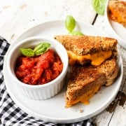 Spicy Italian Tomato Grilled Cheese Dip
