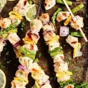 grilled lemon pepper chicken kebabs