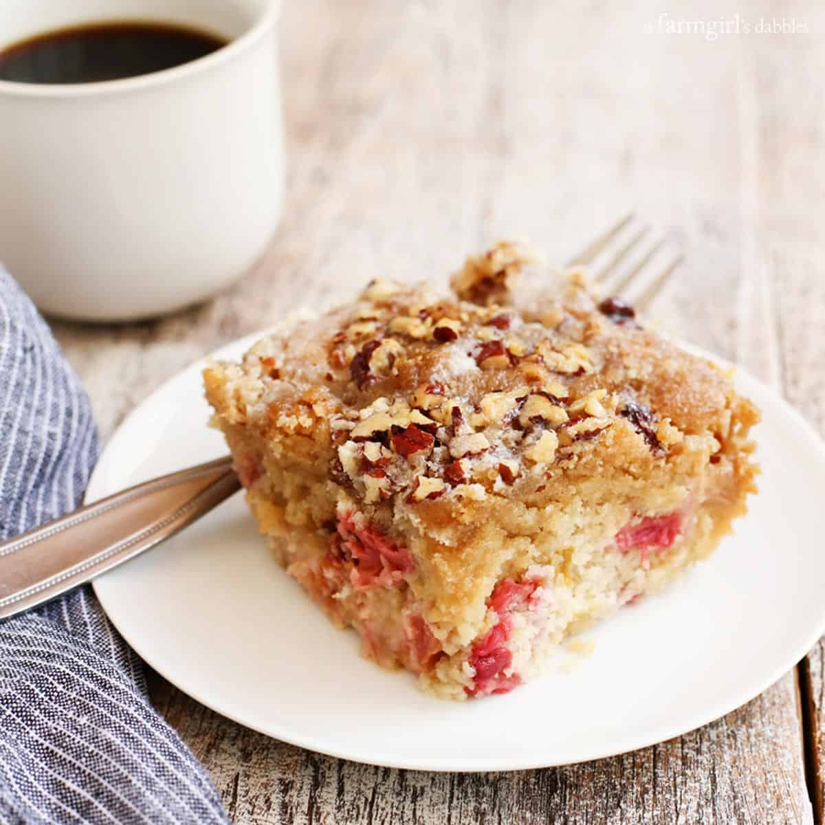 Rhubarb Nut Coffee Cake