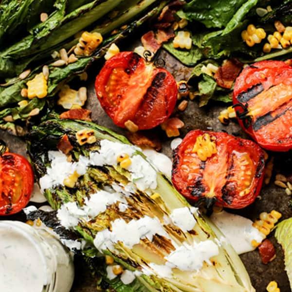 Grilled Romaine Lettuce Salad