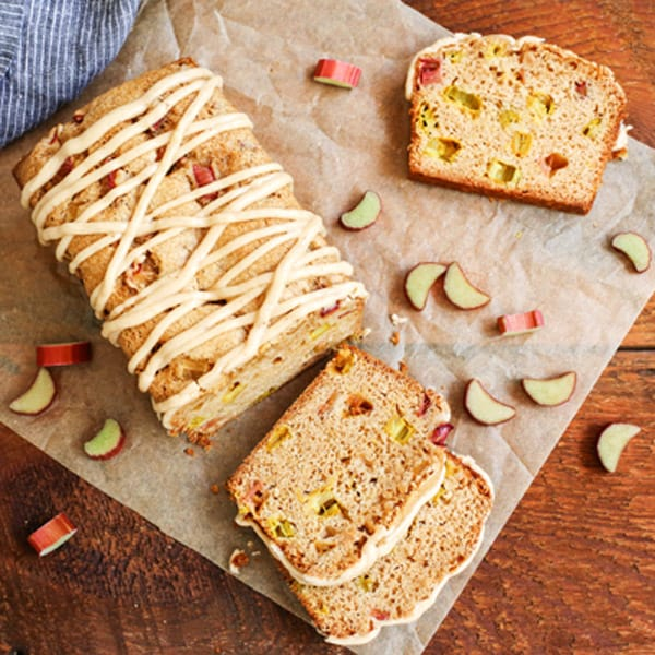 Cinnamon Rhubarb Bread with Brown-Butter Glaze • a farmgirl's ...