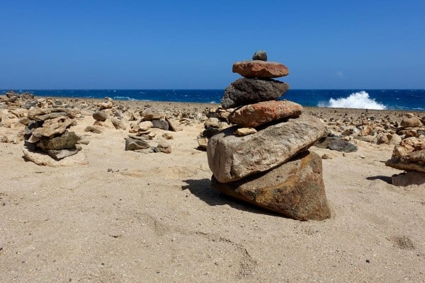 wishing rocks garden in aruba