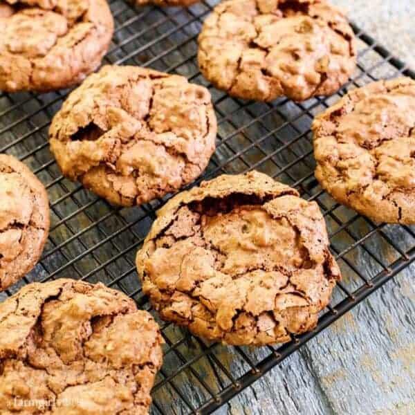 Fudgy Chocolate Meringue Cookies