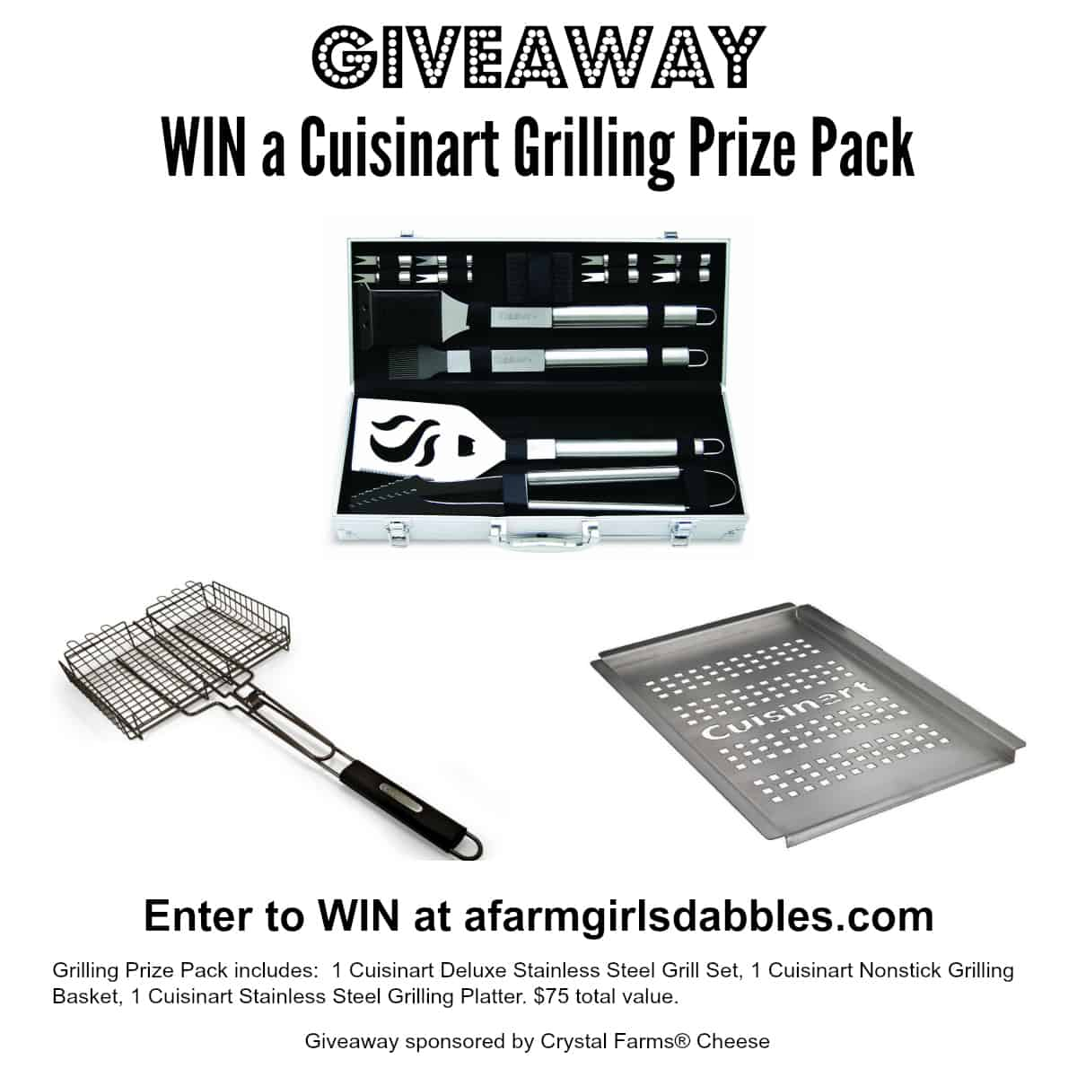 Cuisinart Grilling Prize Pack Giveaway - enter at afarmgirlsdabbles.com