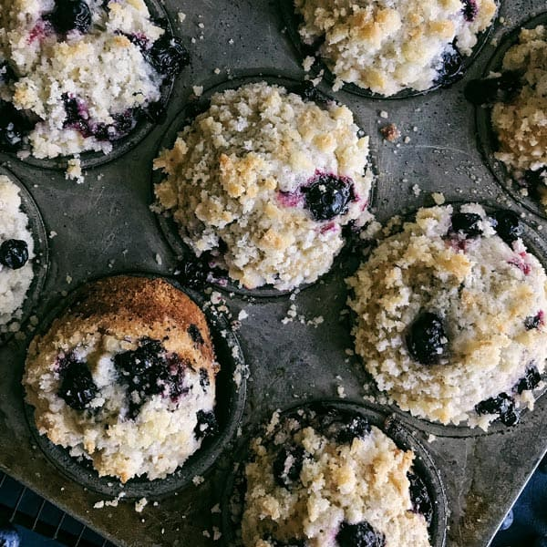Grandma Renelt's Blueberry Muffins with Crumb Topping