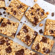 Butterscotch Chocolate Chunk Blondies with Smoked Salt