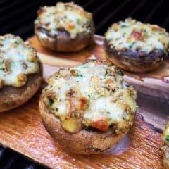 cheesy-stuffed-mushrooms-grilled-on-a-cedar-plank_afarmgirlsdabbles_afd-2