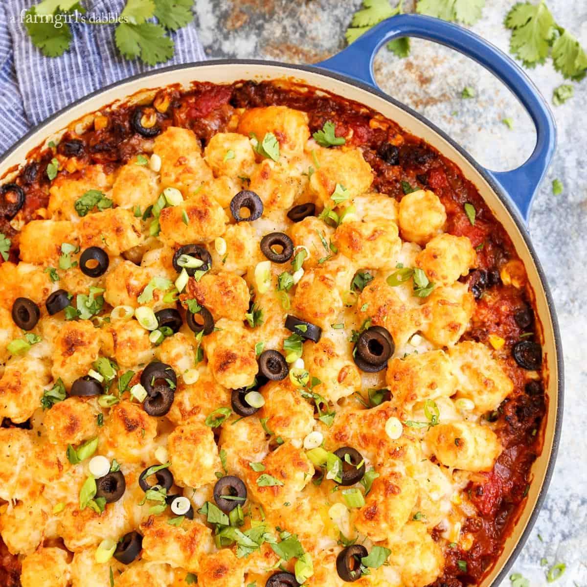 Taco Tater Tot Hotdish from afarmgirlsdabbles.com
