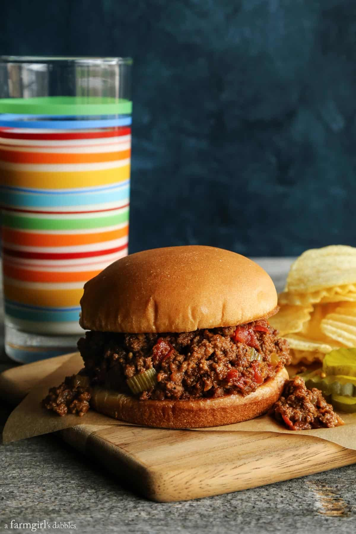 Slow Cooker Sloppy Joes from afarmgirlsdabbles.com