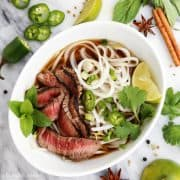 Quick Grilled Beef Pho