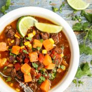 Slow Cooker Beef and Sweet Potato Soup