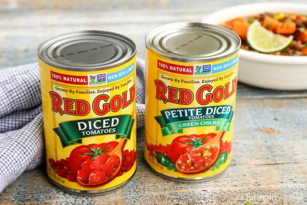Red Gold tomatoes cans