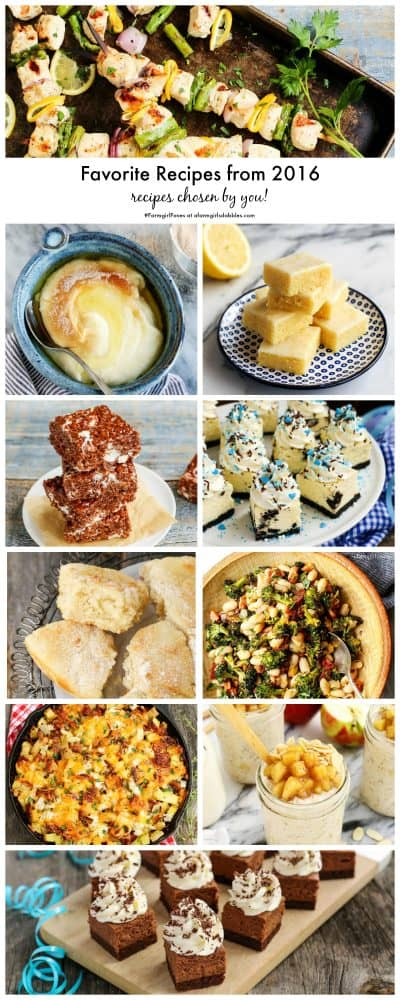 Favorite Recipes from 2016 chosen by readers