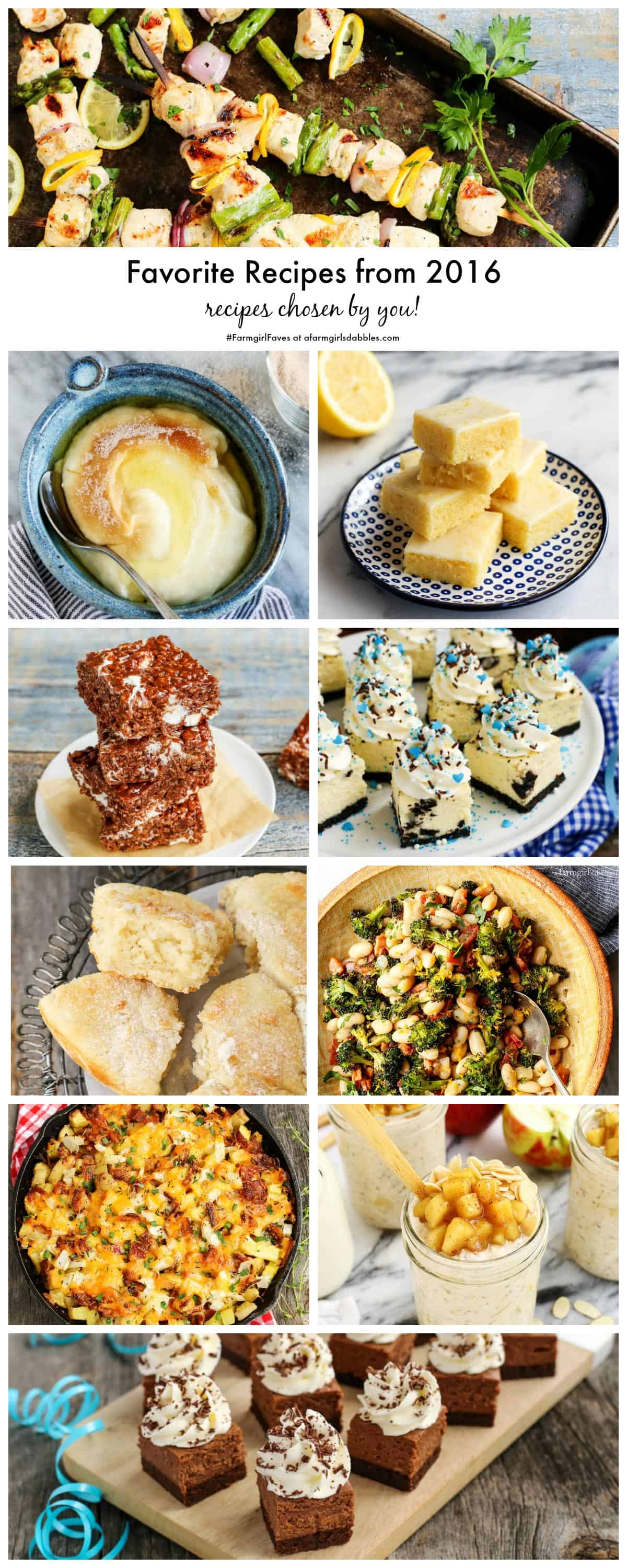 Favorite Recipes from 2016 - recipes chosen by you! - from afarmgirlsdabbles.com
