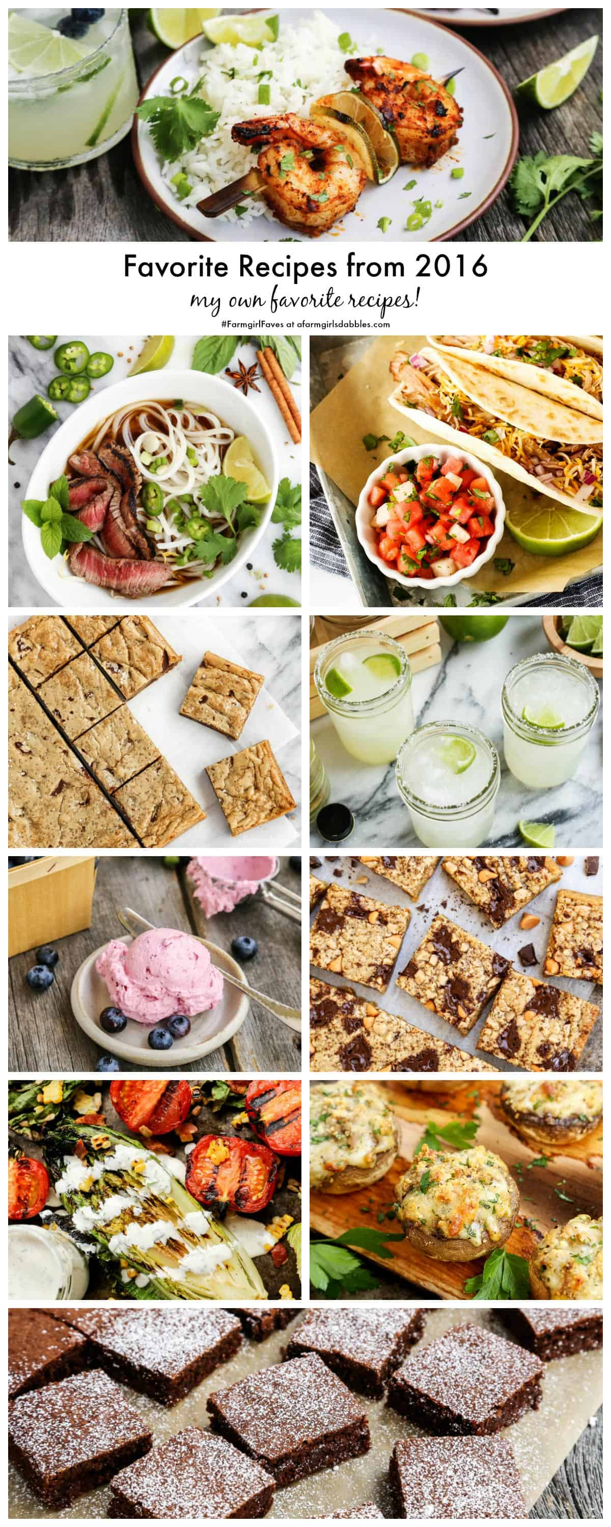 Favorite Recipes from 2016 - my own favorite recipes! - from afarmgirlsdabbles.com