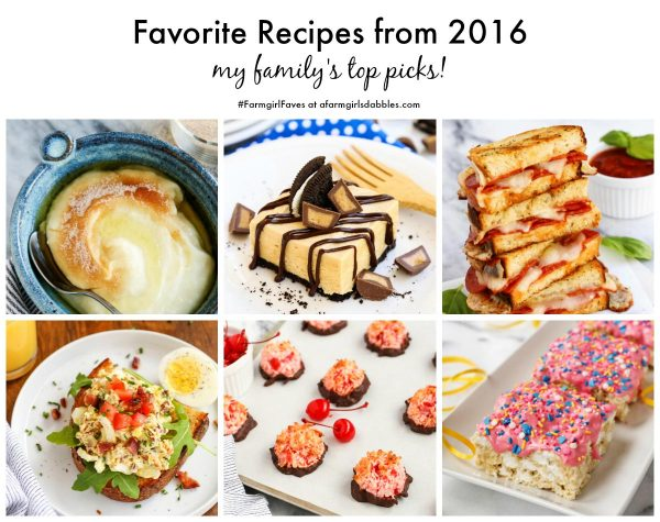 Favorite Recipes from 2016 - my family's top picks! - from afarmgirlsdabbles.com