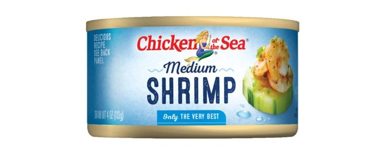 Chicken of the Sea medium shrimp (new packaging)