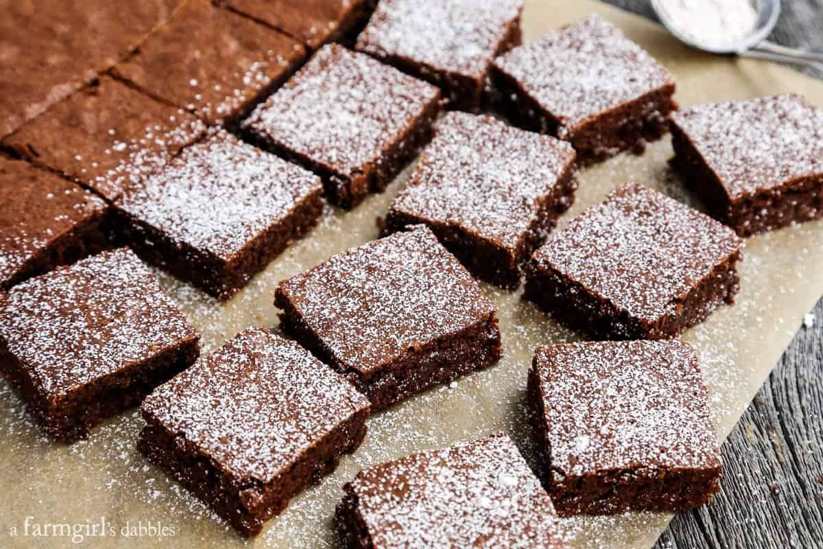 Gingerbread Brownies from afarmgirlsdabbles.com