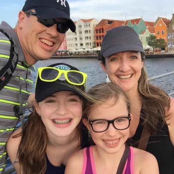 family photo on vacation