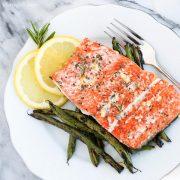 10-Minute Garlic and Rosemary Roasted Salmon