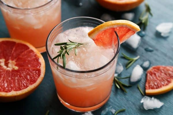 Rosemary Greyhound Cocktail with fresh rosemary and grapefruit