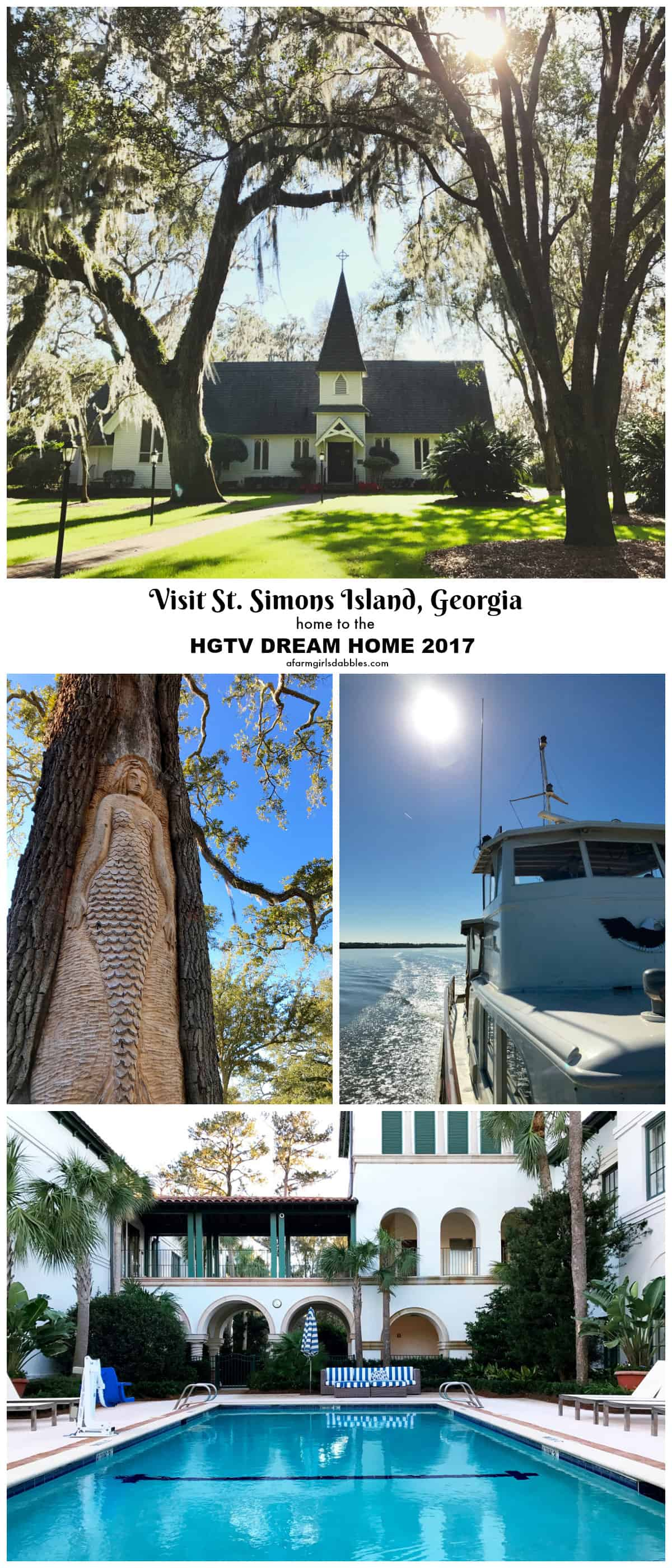 Visit St. Simons Island, Georgia - home to the HGTV Dream Home 2017 - from afarmgirlsdabbles.com