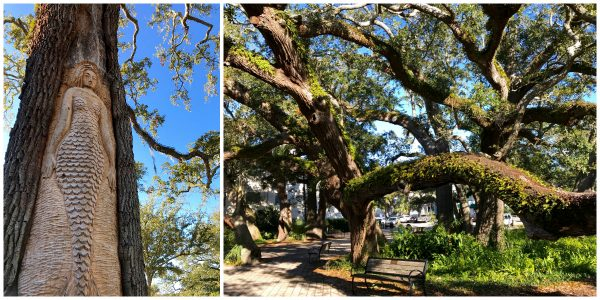 St. Simons Island, Georgia tree spirits and live oak - from afarmgirlsdabbles.com