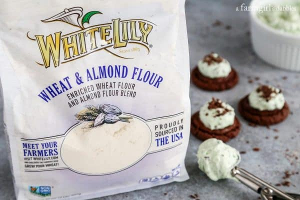 White lily four and mint brownie cookies