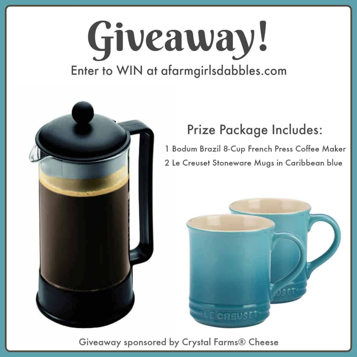 Brunch Coffee Lover Giveaway - enter for your chance to win at afarmgirlsdabbles.com