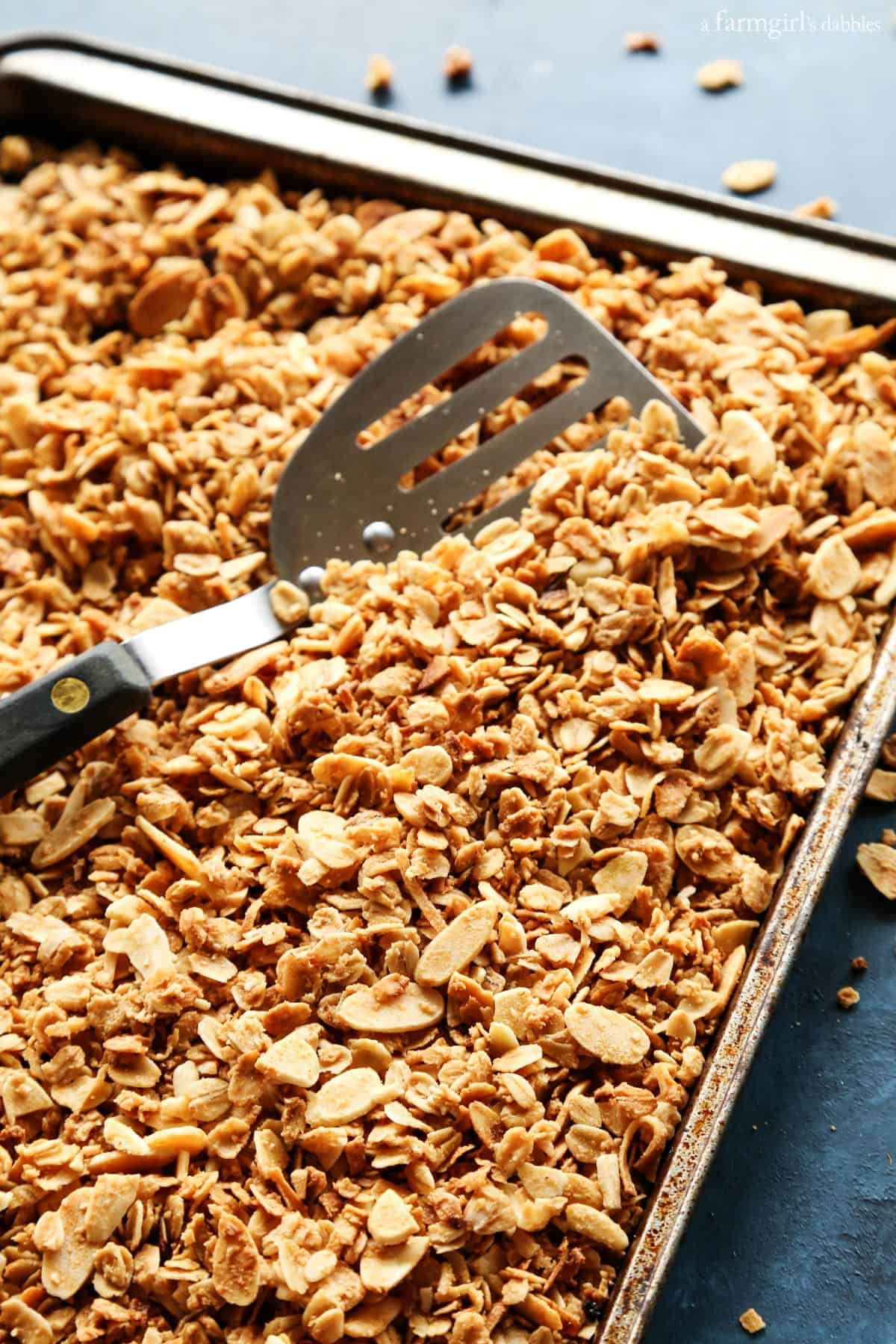 Homemade Almond Coconut Granola from afarmgirlsdabbles.com