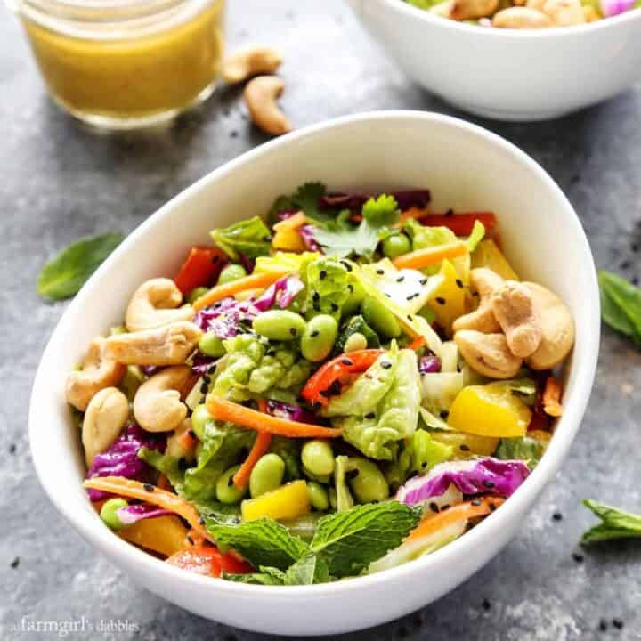 Chopped Salad with Coconut Green Curry Dressing