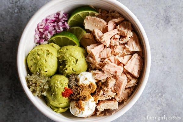 ingredients for a Tuna Guacamole Sandwich