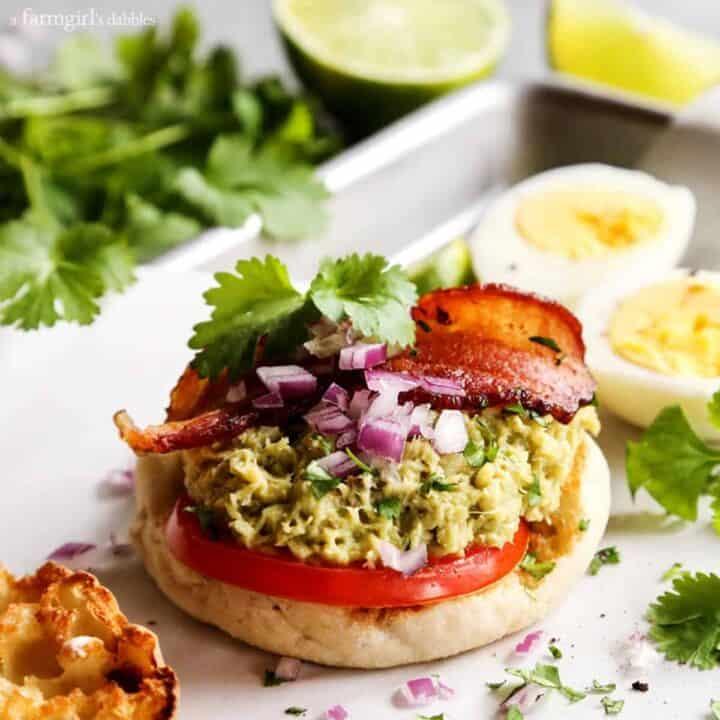 Tuna Guacamole Sandwich with Bacon
