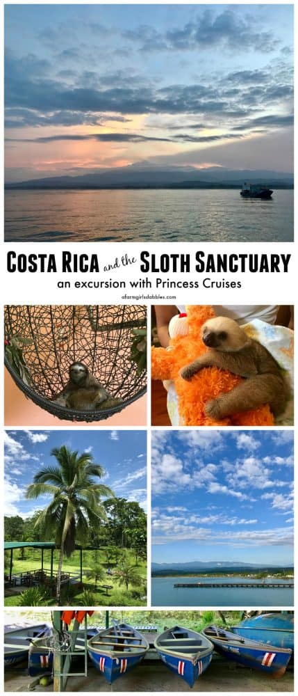 pinterest image of Costa Rica and the Sloth Sanctuary