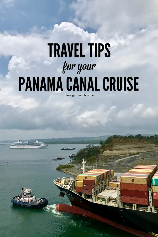pinterest image of Travel Tips for your Panama Canal Cruise